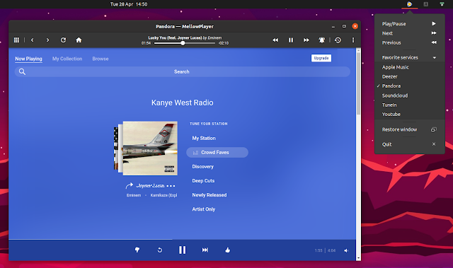 MellowPlayer Pandora radyosu