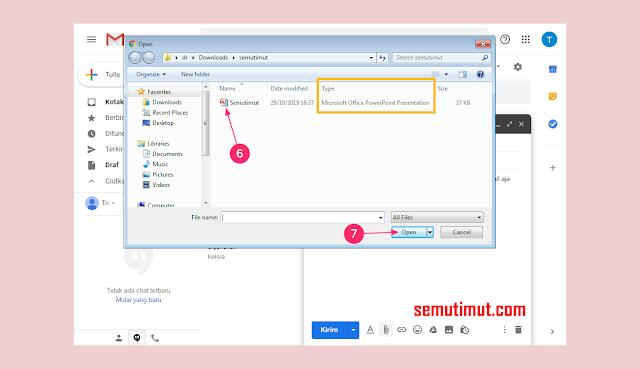 cara mengirim file powerpoint lewat gmail