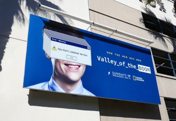 Valley of the Boom series launch billboard