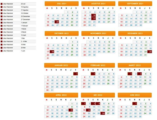 Terbaru Kalender Pendidikan Tahun Pelajaran 2021/2022 Provinsi Sumatera Utara