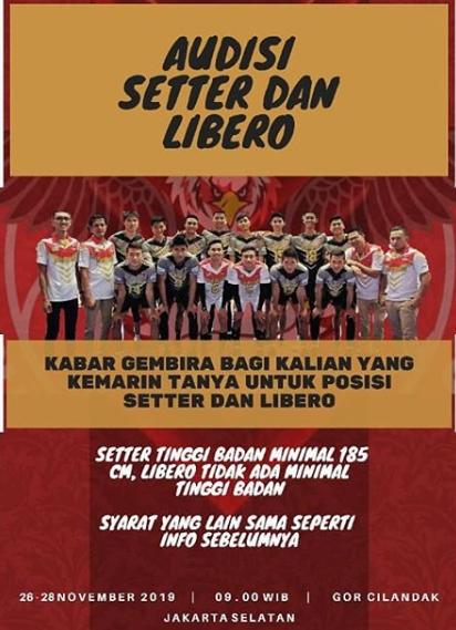 Daftar Pemain Proliga 2020 : daftar, pemain, proliga, Pemain, Proliga, 2020?, Jakarta, Garuda, Membuka, Audisi, Simak, Segera, Disini, E-Pjok
