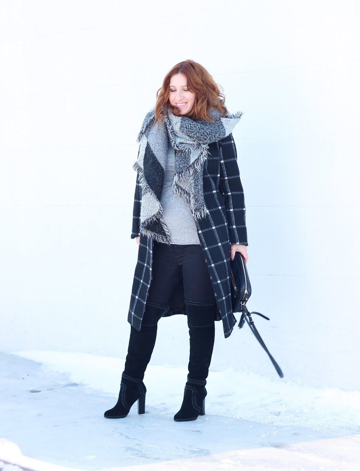plaid, winter coats, plaid coats, style, maternity, pregnancy style, maternity coats