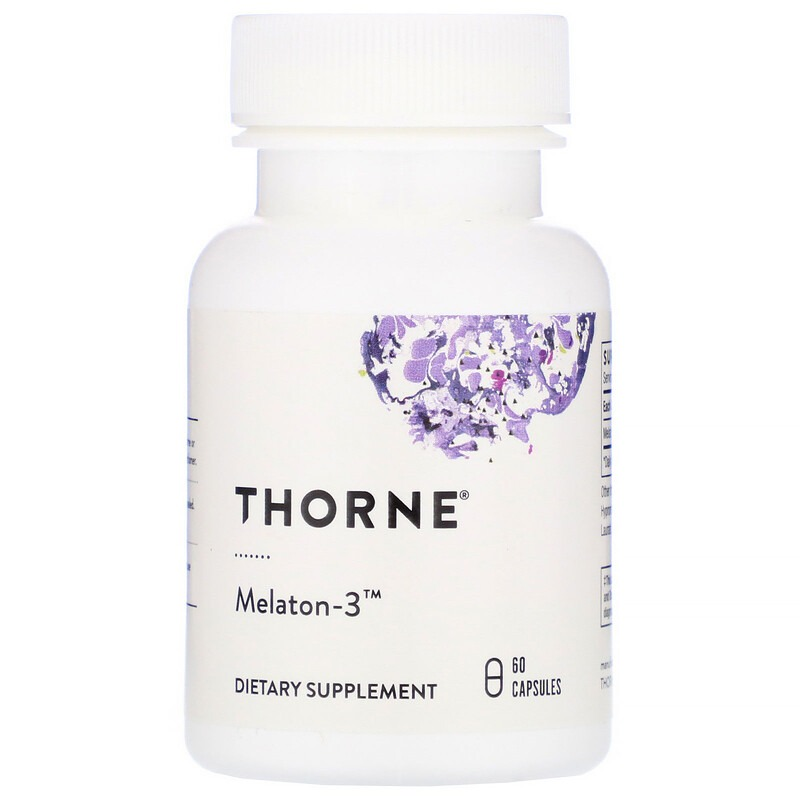 Thorne Research, Melaton-3, 60 капсул