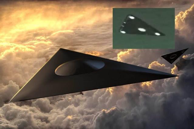 Triangle shape craft in Infrared spectrum.