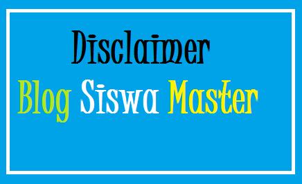 disclaimer siswa master