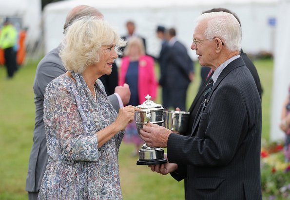 Prince Charles, Prince of Wales and Camilla, Duchess of Cornwall visit Sandringham Flower Show 2016