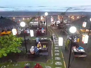 view atas bamboo cafe pangandaran