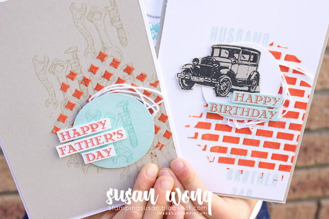 Guy Greetings Cards - Stamping Susan Wong