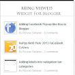 Introducing Being Viewed Widget For Blogger