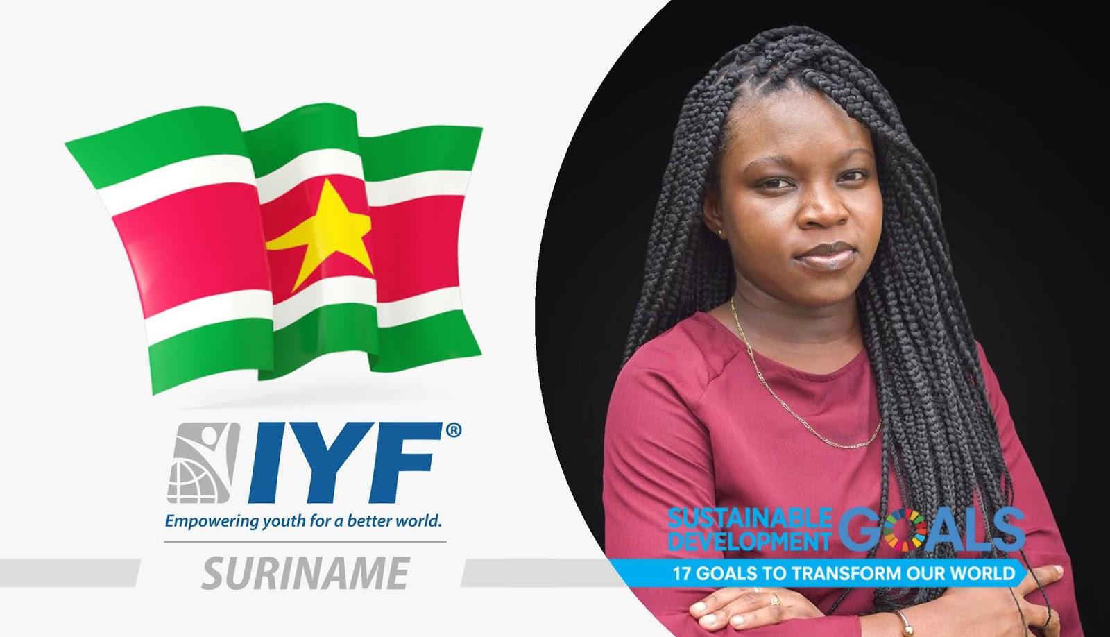 Zaviska Lamsberg, IYF Representative in Suriname