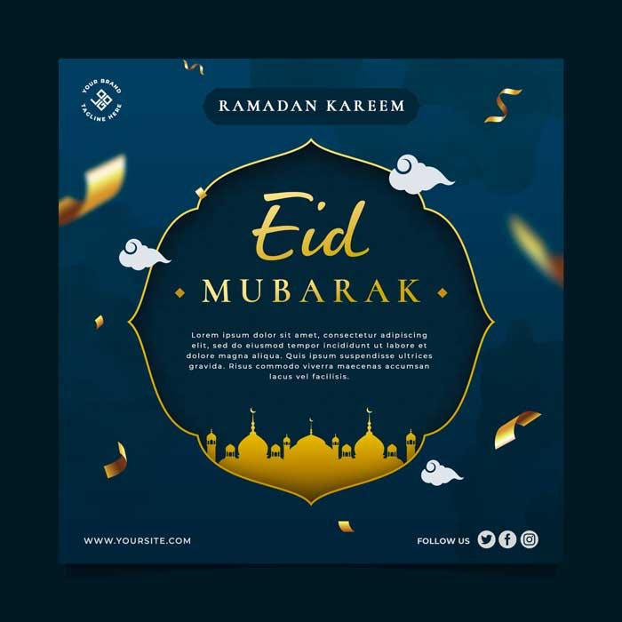 Eid Mubarak Celebratory Social Media Post Template