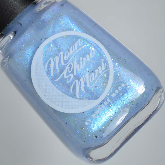 ethereal blue multichrome nail polish in a bottle
