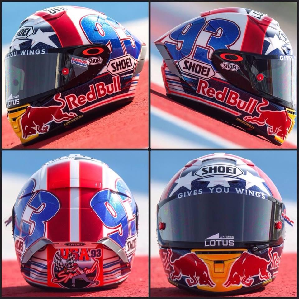 Racing Helmets Garage: Shoei X-Spirit III M.Márquez COTA 2016