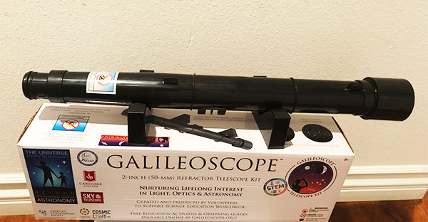 Assembled version of the 2-inch Galileoscope (Source: Palmia Observatory)
