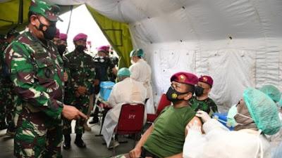 Kasal: Instruksi Panglima TNI Bulan April Vaksinasi Prajurit Harus Selesai