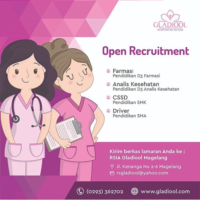 Open Recruitment RSIA Gladiool Magelang Oktober 2019 ...