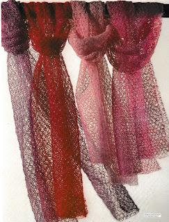 Écharpe vaporeuse tricotée en laine mohair d428ebcff73