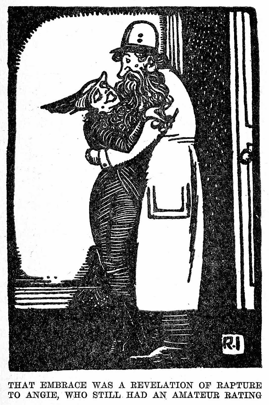 a Rea Irvin 1923 cartoon illustration of a woman with low standards in men