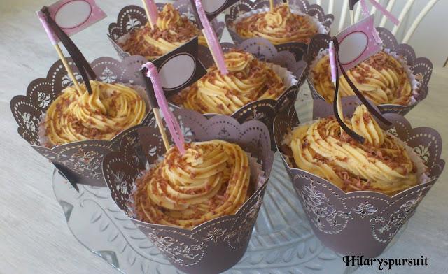 Cupcake au chocolat et au beurre de cacahuètes