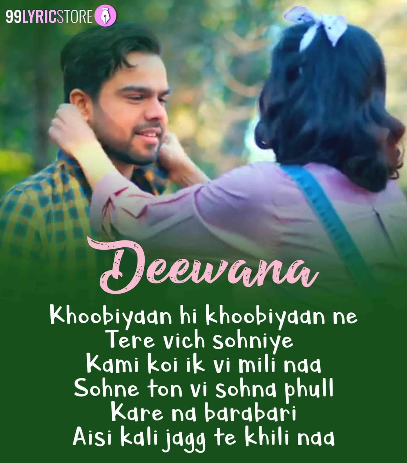 Deewana Punjabi Song Written Image By Akhil