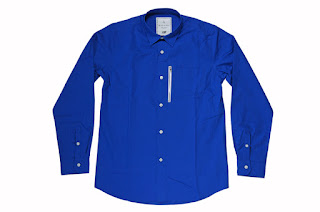 BLACK&BLUE [ ZIPシャツ ] 青