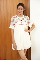 Lavanya Tripathi in Summer Style Spicy Short White Dress at her Interview  Exclusive 264.JPG