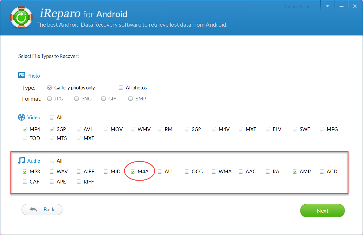 How to Recover M4A Files from Android - M4A Voice Memo Recovery