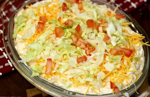 THE BEST TACO DIP RECIPE #taco #dip #vegetarian #yummy #dip