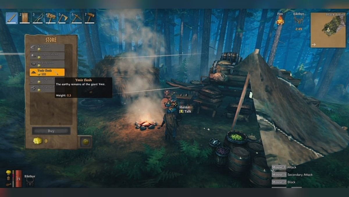 How to upgrade the forge in Valheim and find Ymir's flesh to create a silver mace