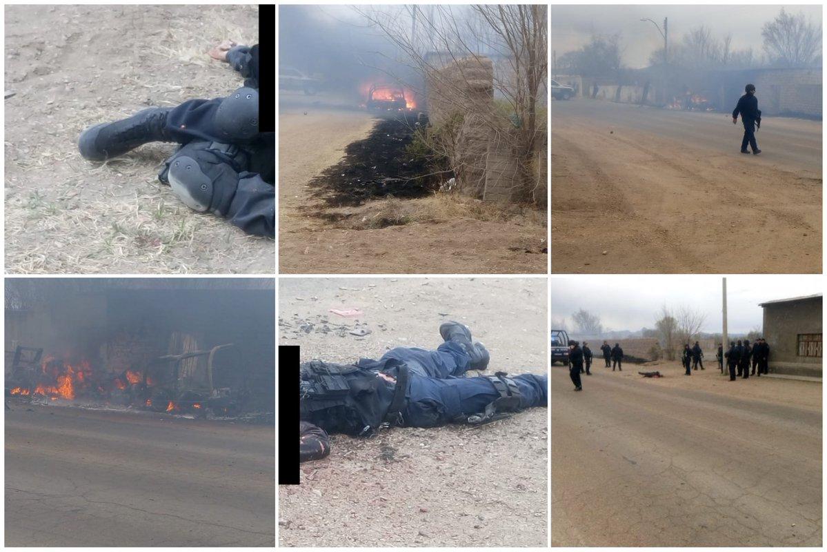 Fotos, Emboscan a Policías en Gómez Farías, Chihuahua, 3 mueren, hay patrullas calcinadas