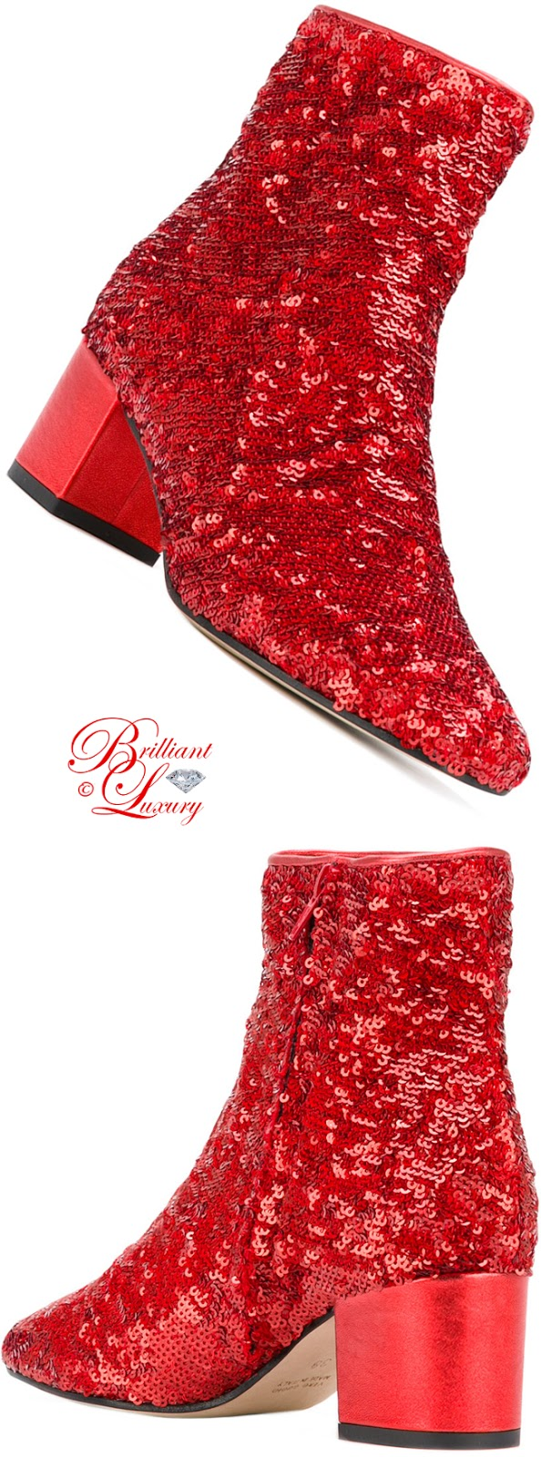 Brilliant Luxury ♦ Marc Ellies Sequinned Ankle Boots