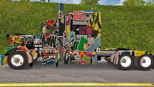Peterbilt 389 Sticker Bomb skin