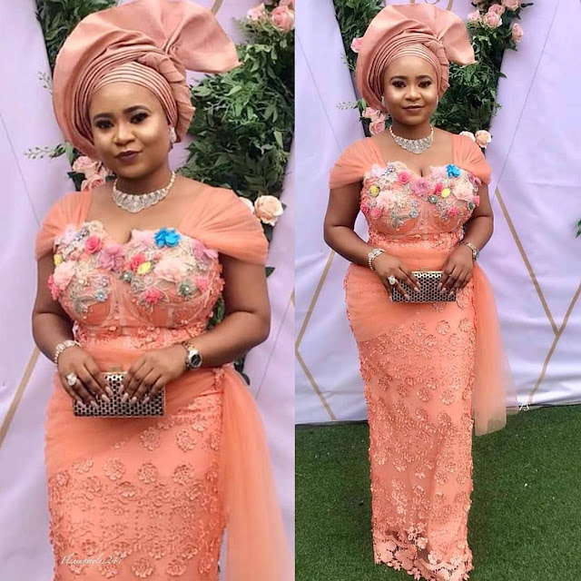 Latest Lovely Asoebi Gown Styles