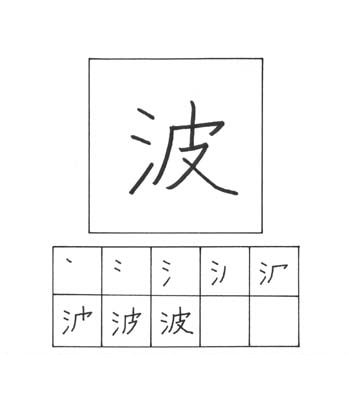 kanji ombak
