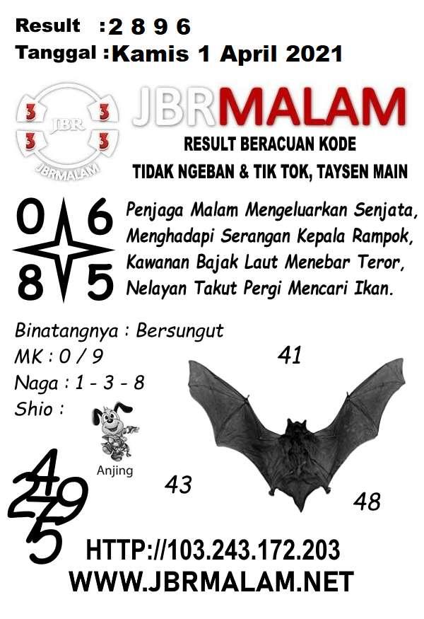 JBR Malam HK Kamis 01 April 2021
