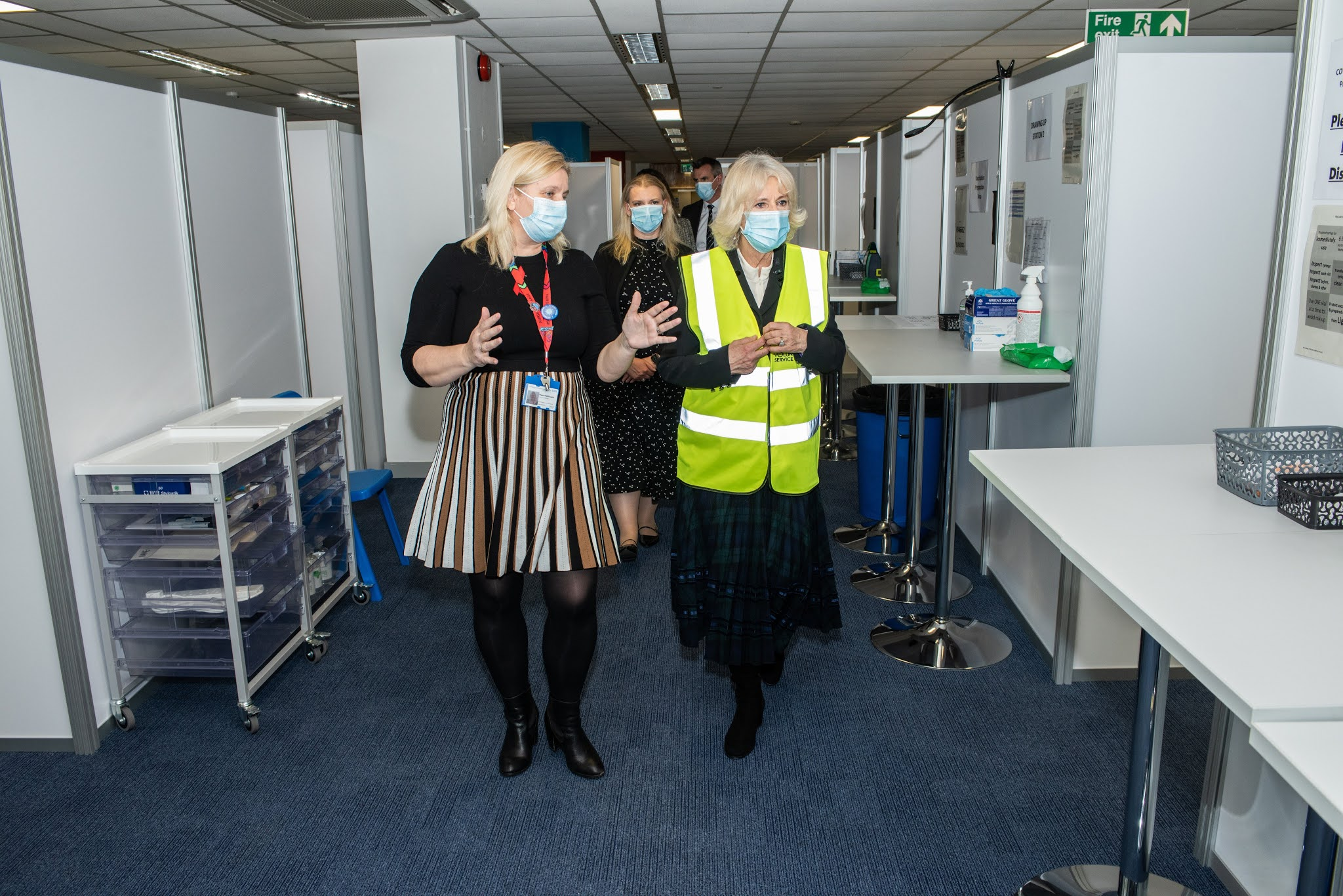 The Duchess of Cornwall Thanked the Volunteers for the Hard work in Vaccination Roll-out