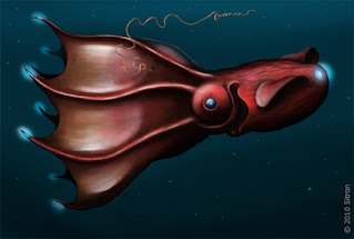 The secular science industry pays well to promote evolution with absurd excuses. The vampire squid fossil is evidence of the Flood, not gradualism.