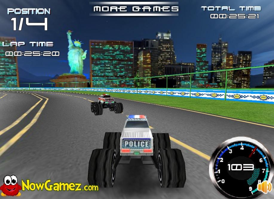 Flash Games Empire: Police Monster Trucks