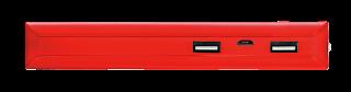 trust power bank caricabatterie portatile 10000mah rosso 21952
