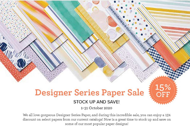 Stamping Up! October 2020 Designer Series Paper Sale