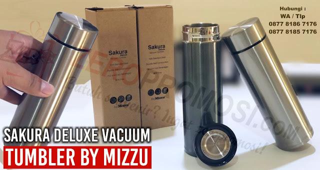 SAKURA DELUXE Mizzu (Stainless), Souvenir Tumbler Stainless Steel Sakura Deluxe, Botol Minum Vacuum,  Mizzu Tumbler