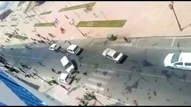 شاهد.. سائق يدهس قاصرين عمدا بسيارته والأمن يعلن عن سبب الحادث.