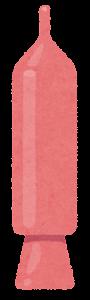 チョコペンのイラスト(ピンク)