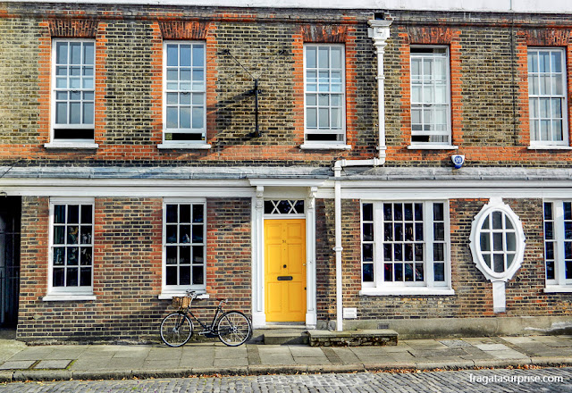 Fachada georgiana em Southwark, Londres