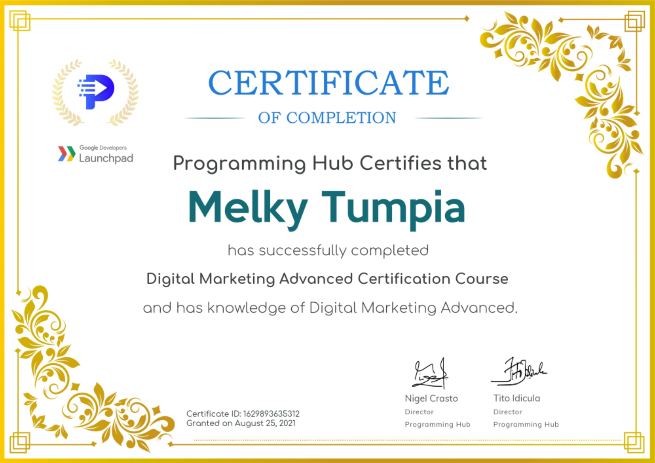 Digital Marketing Advanced Certification