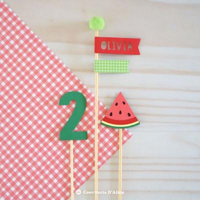 topo bolo melancia aniversario infantil