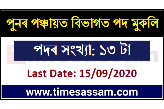 PNRD Assam New Jobs 2020