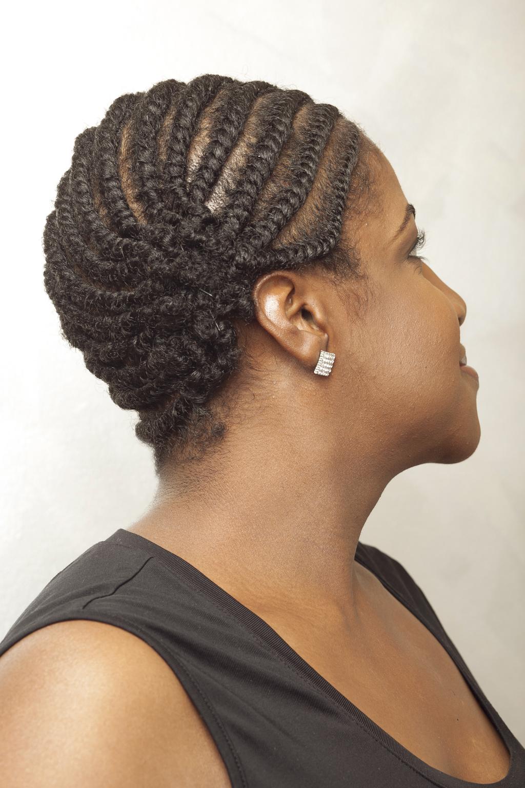 Flat Twist Updo Hairstyles For Black Women