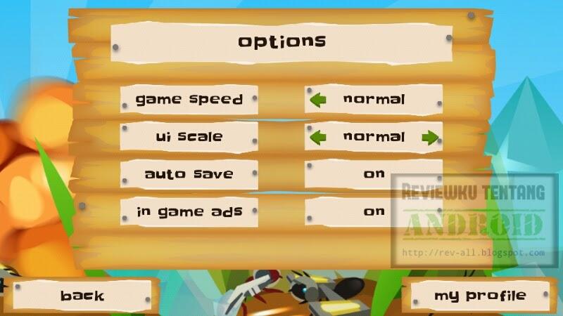 Pengaturan game android Ant Warz - bangun koloni semut yang kuat dan jadilah pemenang (rev-all.blogspot.com)