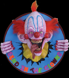 Creepy Carnival KILLER CLOWN WALL PLAQUE Horror Prop Decoration